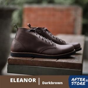 sepatu boots formal coklat pria eleanor darkbrown