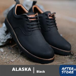 sepatu formal casual pria alaska black