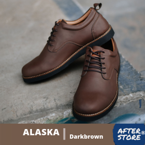 sepatu formal casual pria coklat alaska darkbrown