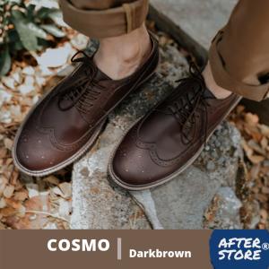 sepatu formal pria coklat cosmo darkbrown