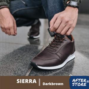 sepatu sneakers pria coklat sierra darkbrown