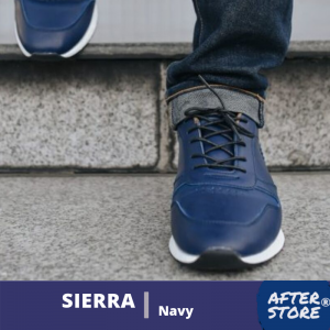 sepatu sneakers pria biru siera navy