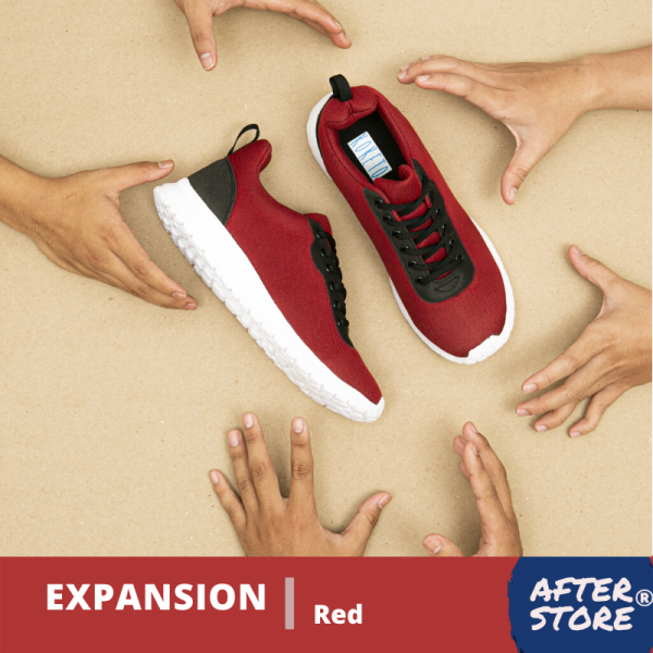 Sepatu sneakers pria Expansion Red